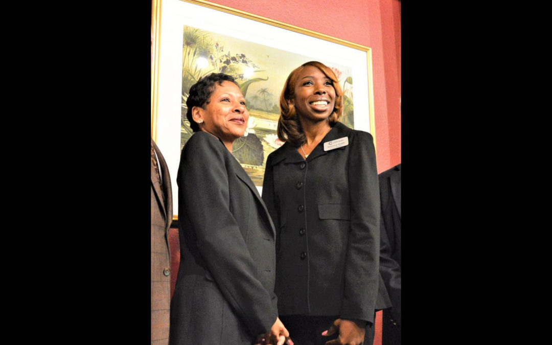 Conyers City Councilwomen Connie Alsobrook and Valyncia Smith were celebrated at the annual State of the City Address.