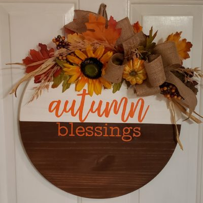 Autumn Blessings Door Hanger