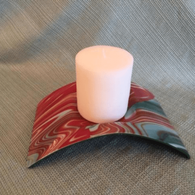 Bridge Candle Holder Glass Art
